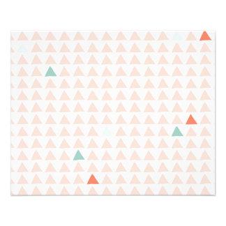 Triangles Pink Tangerine Flyer