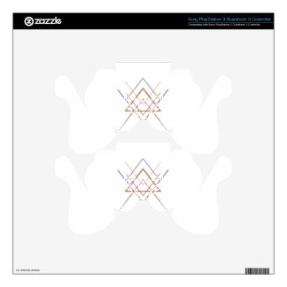 Triangles Rose Gold Silver PS3 Controller Skins