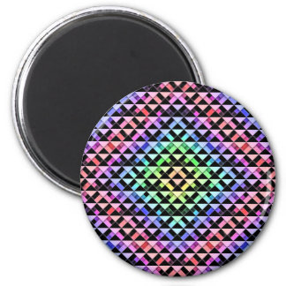 Triangles Rotated 2 Inch Round Magnet
