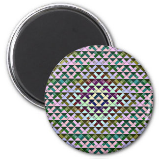 Triangles Rotated Inverted Refrigerator Magnet