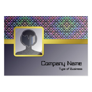 Triangles Rotated Small Large Business Cards (Pack Of 100)