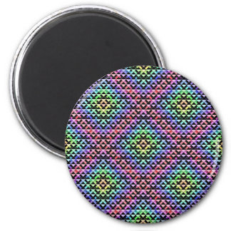 Triangles Rotated Small Fridge Magnet