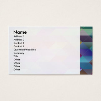 Triangles structure business card