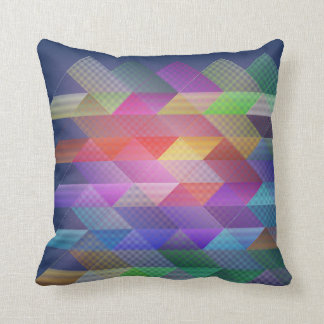 Triangles structure throw pillow