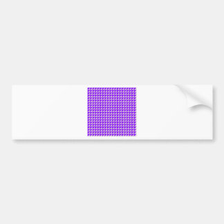 Triangles - Thistle and Violet Bumper Sticker