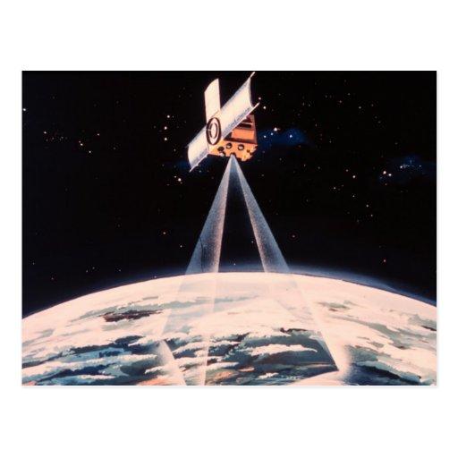 Triangulación por satélite postales