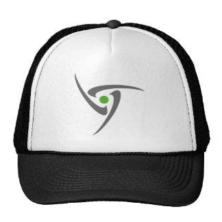 Triangular Abstract Spiral Baseball Cap Trucker Hat