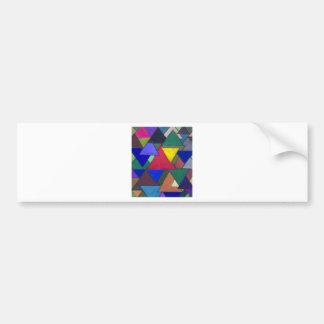 Triangular Colorful Invaders Bumper Sticker