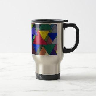 Triangular Colorful Invaders Travel Mug
