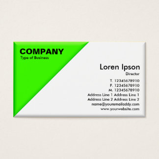 Triangular Corner - 3d Effect - Green and White Business Card