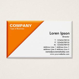 Triangular Corner - 3d Effect - Orange and White Business Card