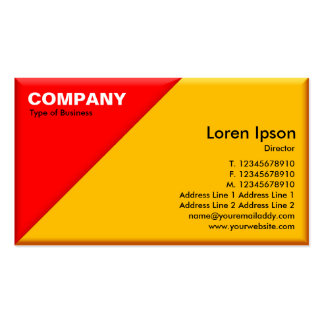 Triangular Corner - 3d Effect - Red and Amber Double-Sided Standard Business Cards (Pack Of 100)