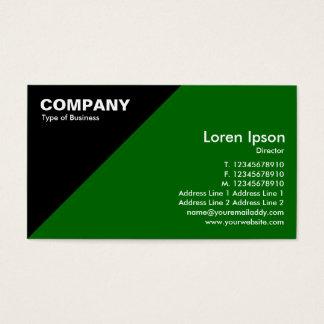 Triangular Corner - Green (006600) Business Card