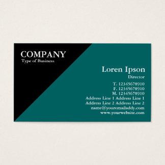 Triangular Corner - Green (006666) Business Card