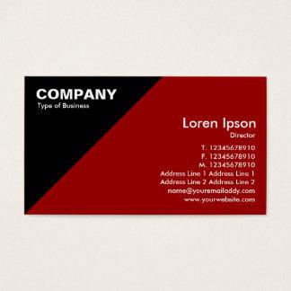 Triangular Corner - Maroon (990000) Business Card