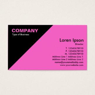 Triangular Corner - Pink (FF66CC) Business Card