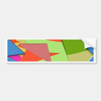 Triangular Dimension 3 Bumper Sticker