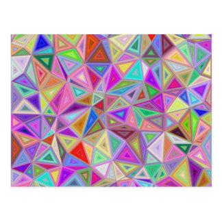 Triangular happiness postcard