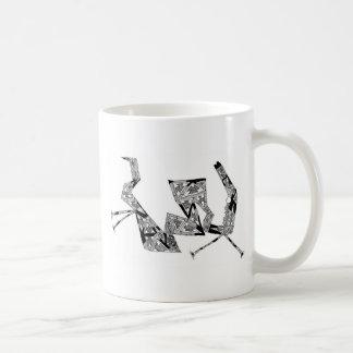 triangular horse coffee mug