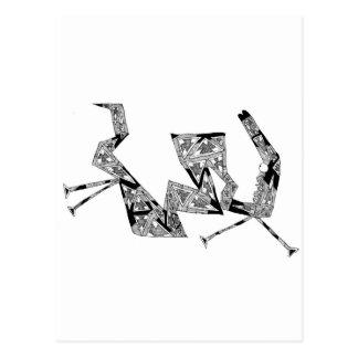triangular horse postcard