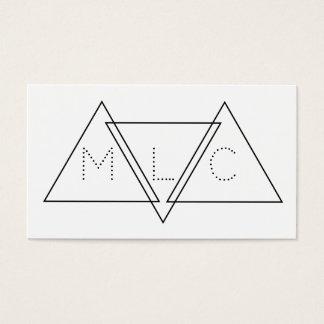 Triangular Minimalist Geometric Modern Initials Business Card