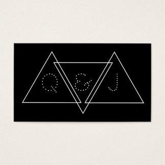 Triangular Minimalist Geometric Modern Monogram Business Card