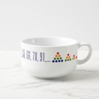 """Triangular Number Sequence"" - Soup Mug"