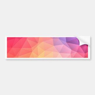 Triangular pattern bumper sticker