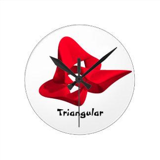Triangular Reloj Redondo Mediano