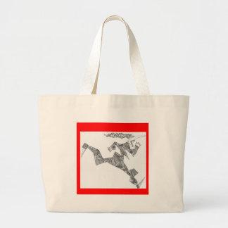triangular runner jumbo tote bag