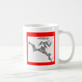 triangular runner coffee mug