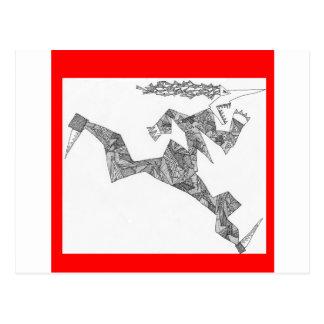 triangular runner postcard