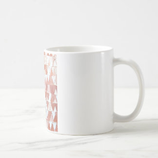 Triangular Sepia and White Waves Coffee Mug