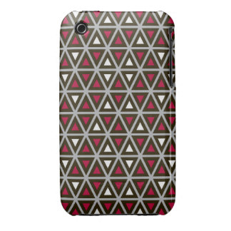 Triangular Shapes Pattern iPhone 3 Cover