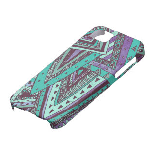 Triangulated Teal iPhone 5 Cases
