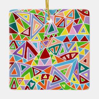 Triangulation Ceramic Ornament
