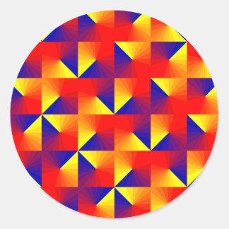Triangulation Classic Round Sticker
