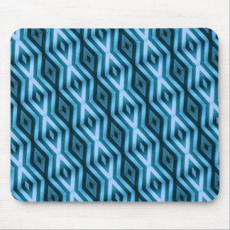 Triangulation Geometric Mousepad in Blue