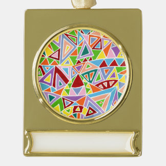 Triangulation Gold Plated Banner Ornament