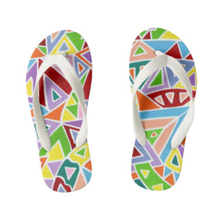 Triangulation Kid's Flip Flops