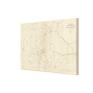 Triangulation Map of Colorado Canvas Print