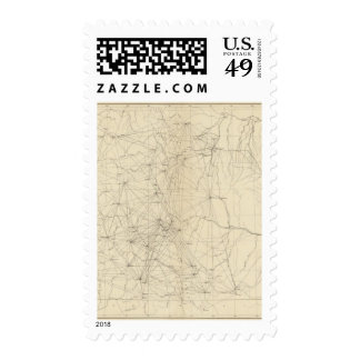 Triangulation Map of Colorado Postage Stamps