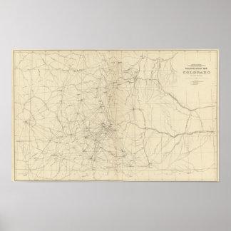 Triangulation Map of Colorado Poster