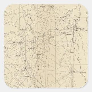 Triangulation Map of Colorado Square Sticker