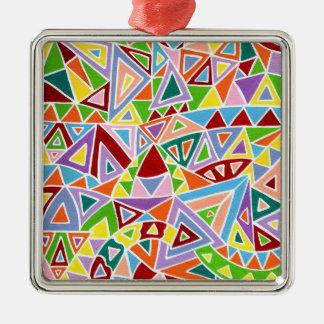 Triangulation Metal Ornament