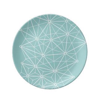 Triangulation Network Porcelain Plate