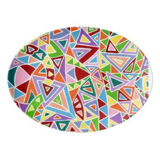 Triangulation Porcelain Serving Platter