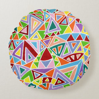 Triangulation Round Pillow