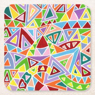 Triangulation Square Paper Coaster