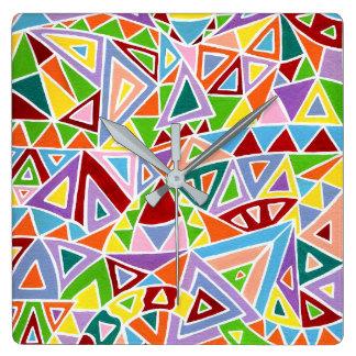 Triangulation Square Wall Clock
